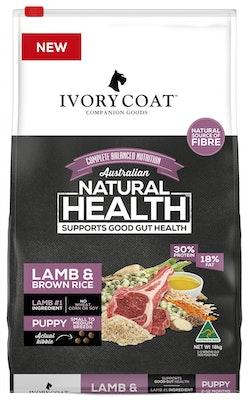IVORY COAT Wholegrain Dry Dog Food Puppy Lamb & Brown Rice 18kg