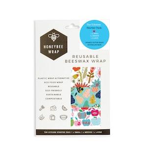 Honeybee Wraps - Kitchen Starter Pack - 3 pack