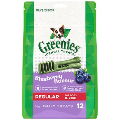 Greenies Blueberry Flavour Regular Dogs Dental Treats 11-22kg 340g