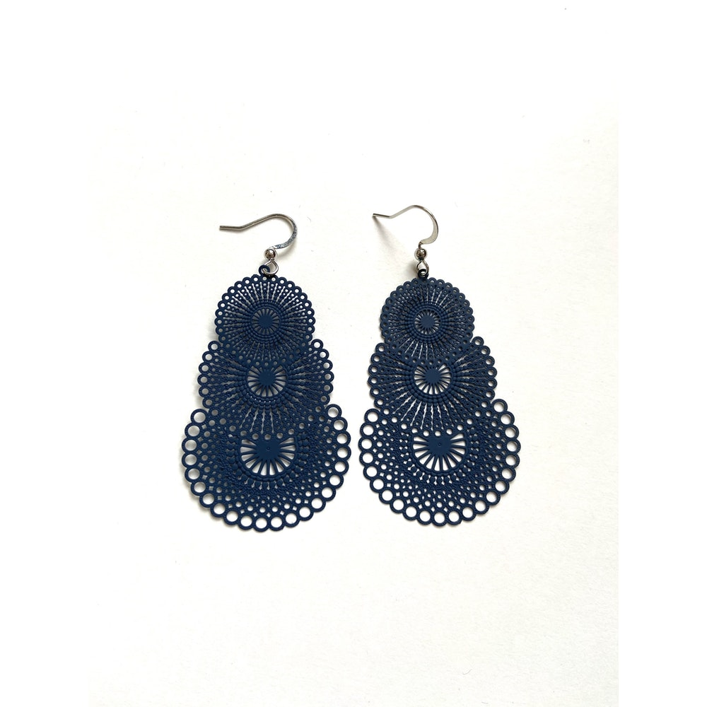 One of a Kind Club Blue Strong Circles Earrings