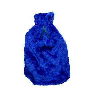 Safe Home Care Hot Water Bottle Cover Relaxing Warmer Heat Soft Bag Blue