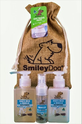 Smiley Dog Gift Pack Goats Milk and Vanilla