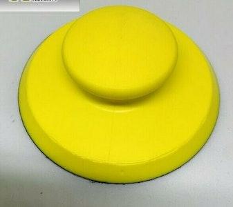Rubbing Block 125mm Round Yellow