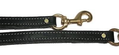 "K9 PRO Premium Leather TRAFFIC Leash 3/4"" x 17"""
