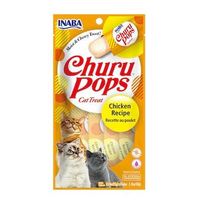 INABA Churu Pops Cats Tasty Treat Chicken Recipe 6 x 60g