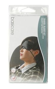 Basic Care Travel Sleep Kit Eye Mask with Ear Plug