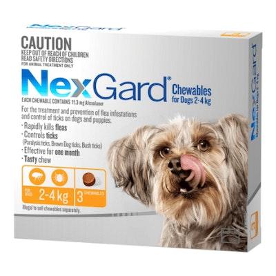 NexGard Flea & Tick Treatment 2-4kg Dog