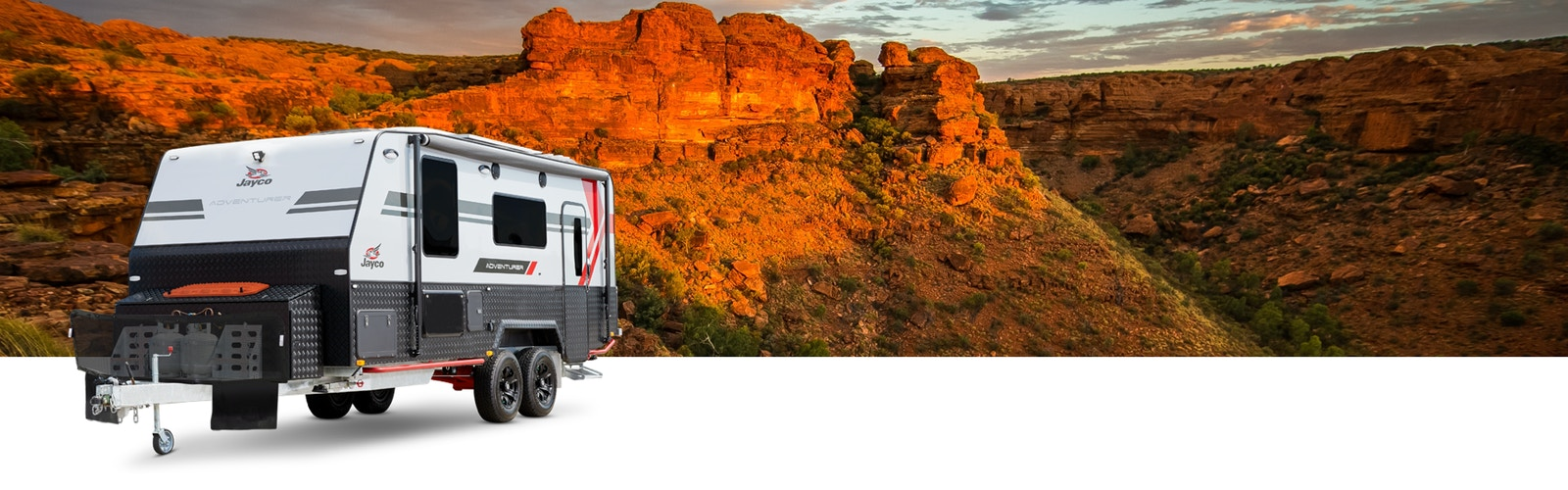 2019 Jayco Adventurer on rural Australia background