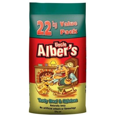 Uncle Alber's Beef and Chicken Balanced Pet Dog Food 20kg + 2kg Bonus