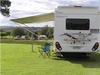 We would add poles and guys to this Jayco motorhome awning.