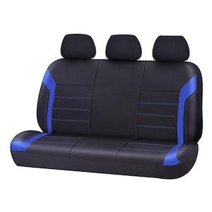 Universal Ultra Light Neoprene Rear Seat Covers Size 06/08H | Black/Blue