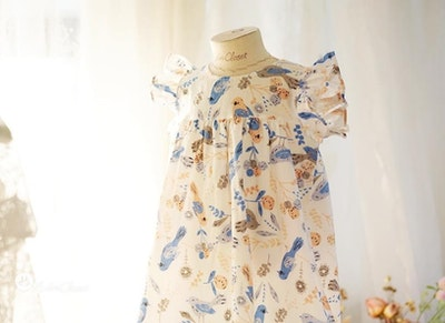 Summer Bird Dress (1-4yrs old)