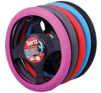 Sports Steering Wheel Cover - Red