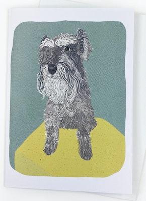 Holly & Bud Blank mini schnauzer card