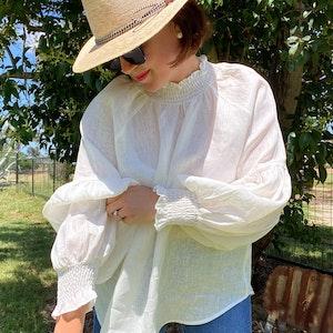 Willow Shirt LINEN - Winter White