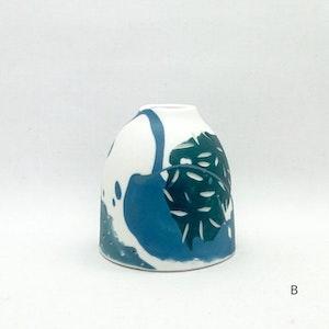 Ceramic Bud Vase - #1 -Forest Painterly