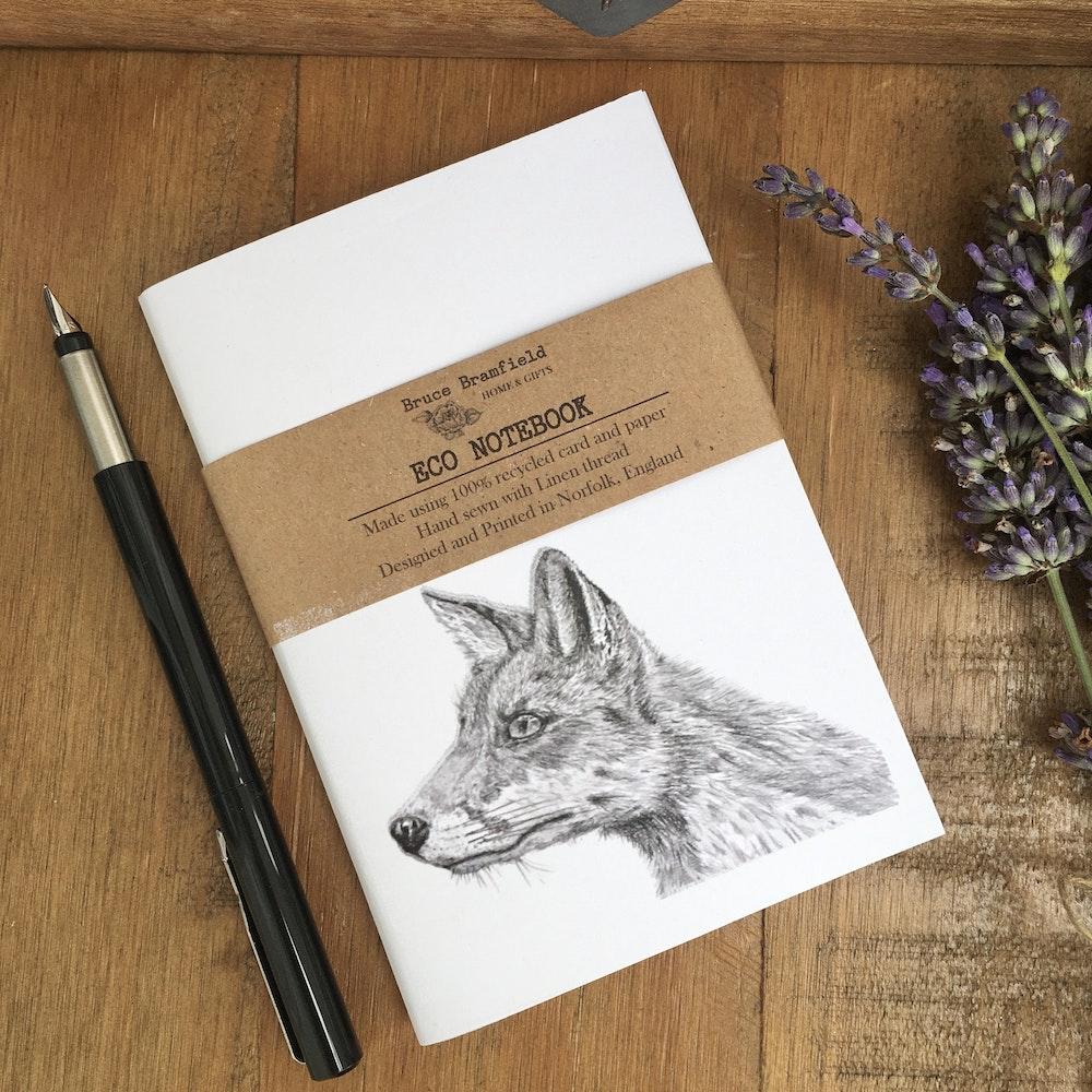 Bruce Bramfield Fox Eco Notebook (white Cover)
