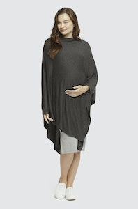 Sprout Maternity Maternity Knit Poncho – Charcoal