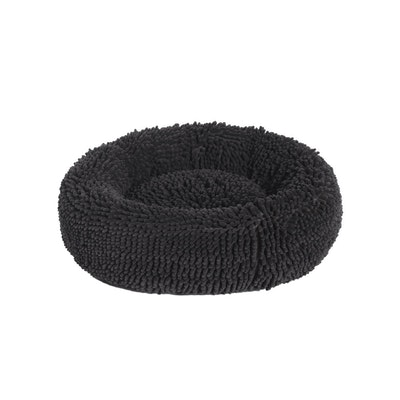 Charlie's Calming Chenille Push Round Pet Bed - Charcoal
