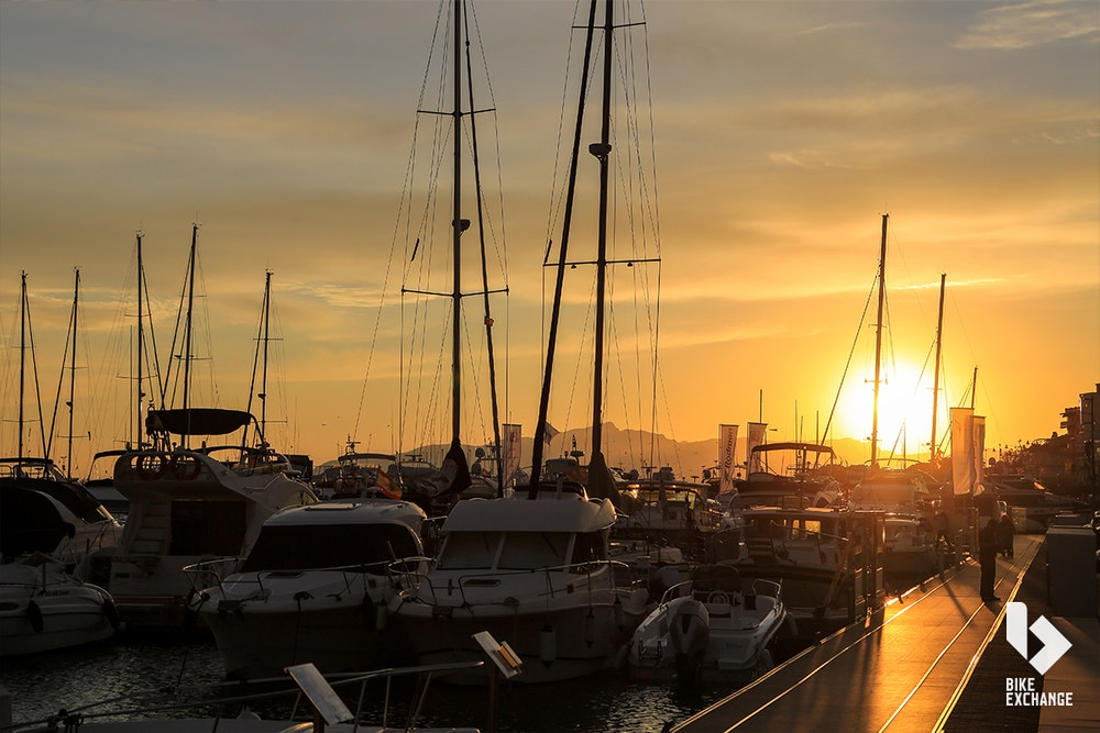 cambrils sunset destination bike