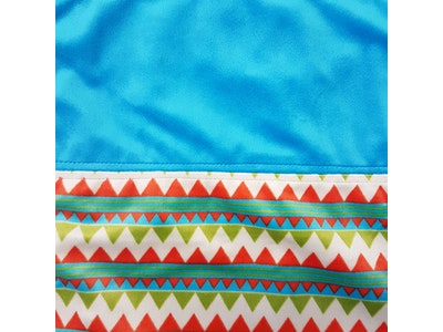 A Travel Blankee: Tee-Pee with Azure Contrast