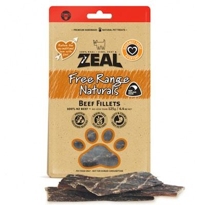 Zeal Free Range Naturals Beef Fillets Dog Cat Treat 125g