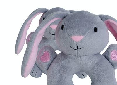 BibiLand BibiBaby Cuddle Rattle - Bella Bunny
