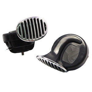 Pair 12V 110dB Snail Horns with Grill