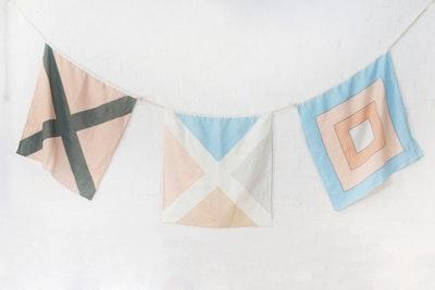 Nautical Linen Flag V1