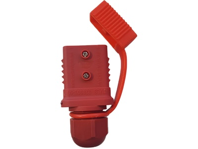 50 amp Anderson Plug Weather Proof Cover Red with LED Power Indicator