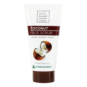The Australian Cosmetic Company Face Scrub Coconut 50ml Beauty Facial Care