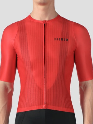 Soomom Men's Lightweight Cycling Jersey - Red
