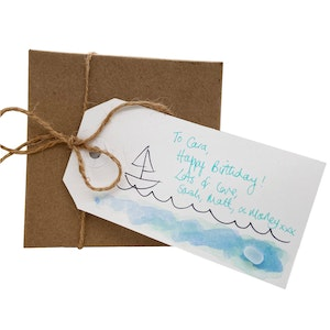 Pack of 3 x Seaglass Gift Tags