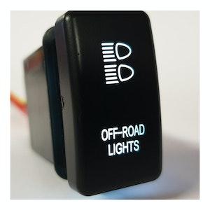 Ford Ranger / Mazda BT50 Off Road Switch White Back Light