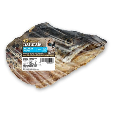 EVOLUTION NATURALS Single Salmon Head Dog Treat