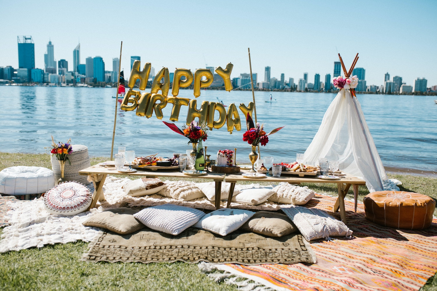Bohemian picnic party perth event venues parties by lenzo bohemian picnic birthday party junglespirit Image collections