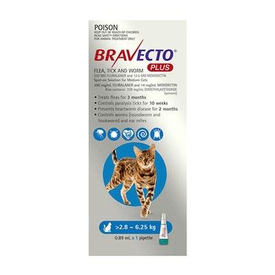 BRAVECTO PLUS for Medium Cats 4 Month Pack