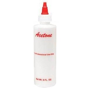 Empty Acetone Bottle Nail Technician Salon Tool Equipment