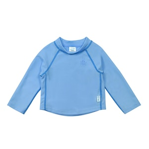 green sprouts Long Sleeve Rashguard Shirt-Light Blue