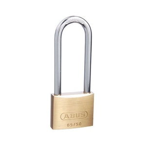 ABUS Brass Padlock 65/50 With 80mm Extended Shackle Keyed to Differ