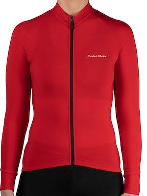 Pedal Mafia Women's Thermal Jacket S20 - Red White