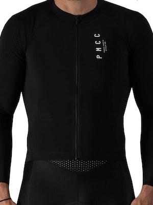 Pedal Mafia Mens Long Sleeve PMCC Jersey - Black White