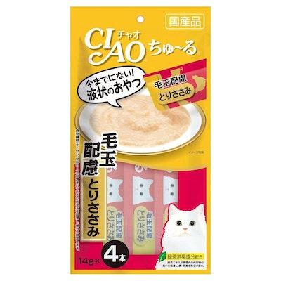 CIAO   Chicken Recipe Hairball Care (4pcs/Pk)