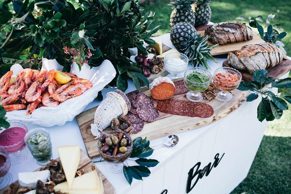 LENZO Boho Wedding Grazing Platter Seafood Cheese Three Blue Ducks