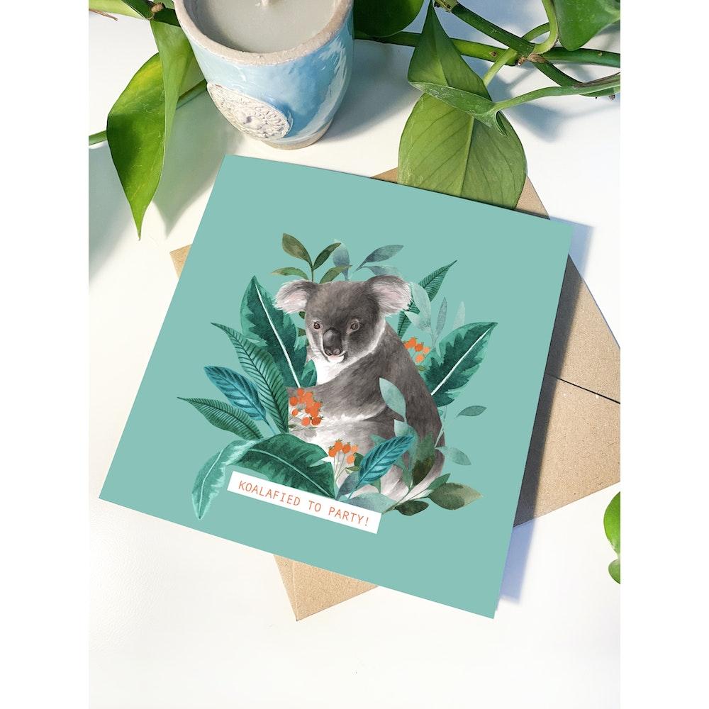Laura Elizabeth Illustrations Koala Greetings Card