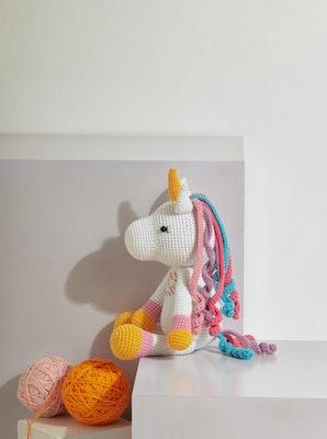 Chippico Australia  Rainbow Unicorn Crochet Stuffed Animal