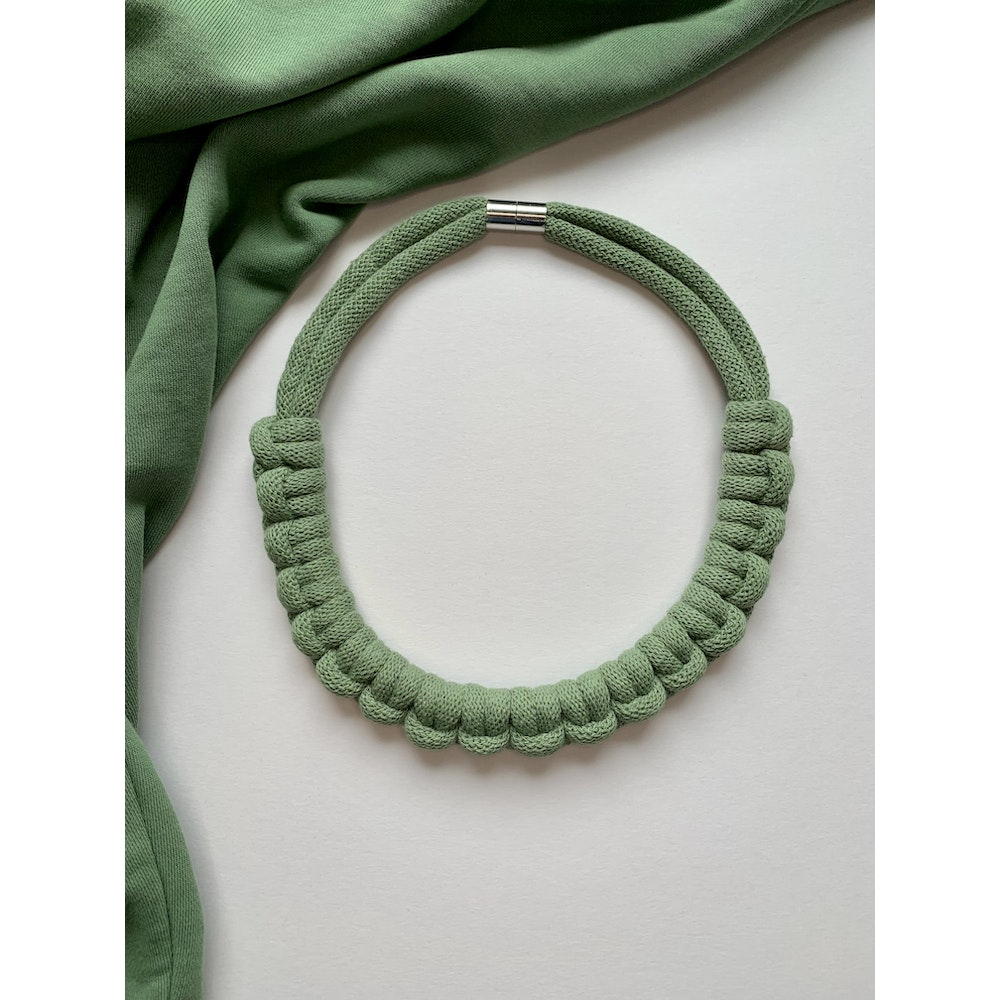Form Norfolk Hitch Knot Necklace In Sea Glass Green