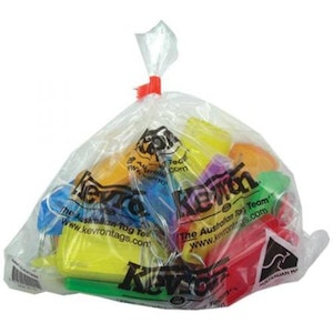 Kevron ID30 Giant Plastic Key Tags – 25 Pack - Mixed Colours
