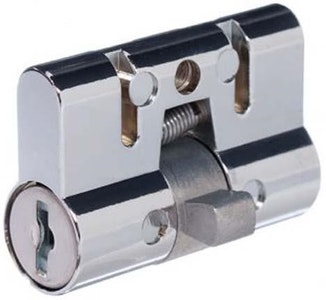 Archie Hardware lazy cam 10-disc screen door lock cylinder in chrome plate