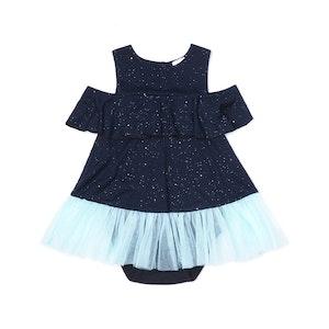 OETEO Australia EASYEO Ocean Waves Sparkling Baby Romper Dress